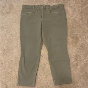 GAP skinny ankle 16 r tan stretch trouser pant
